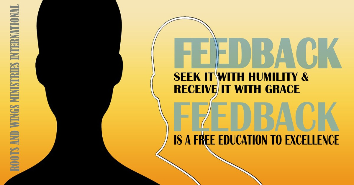 Feedback is crucial for success